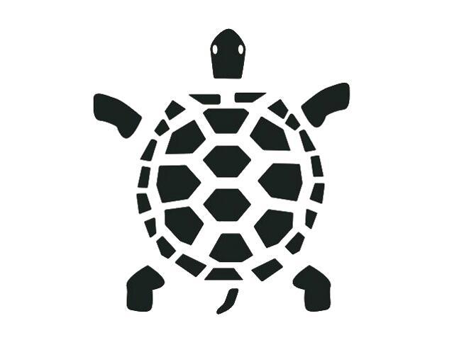 Naklejka dekoracyjna welurowa żółw 673033-7 Klimaty Domu
