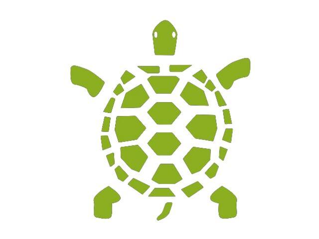 Naklejka dekoracyjna welurowa żółw 673033-5 Klimaty Domu