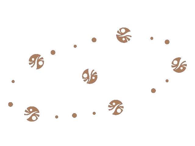 Naklejka dekoracyjna welurowa kółka 671000-8 Klimaty Domu