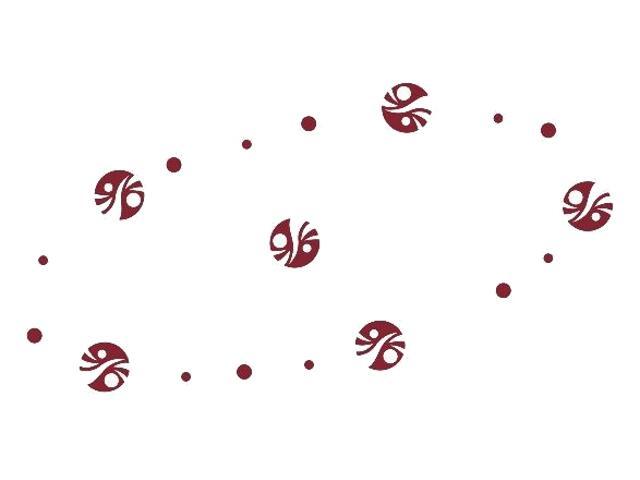 Naklejka dekoracyjna welurowa kółka 671000-11 Klimaty Domu