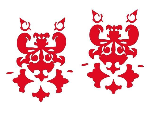Naklejka dekoracyjna welurowa ornament 671001-6 Klimaty Domu