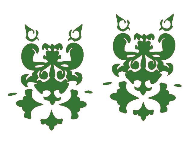 Naklejka dekoracyjna welurowa ornament 671001-9 Klimaty Domu