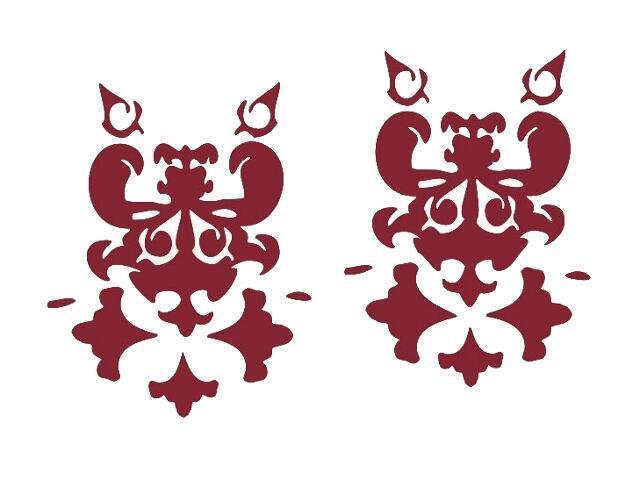 Naklejka dekoracyjna welurowa ornament 671001-11 Klimaty Domu