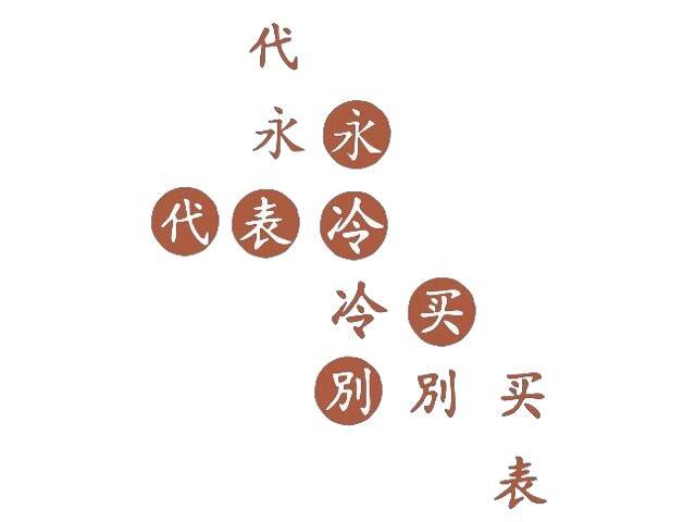 Naklejka dekoracyjna welurowa chińskie znaki 671002-2 Klimaty Domu