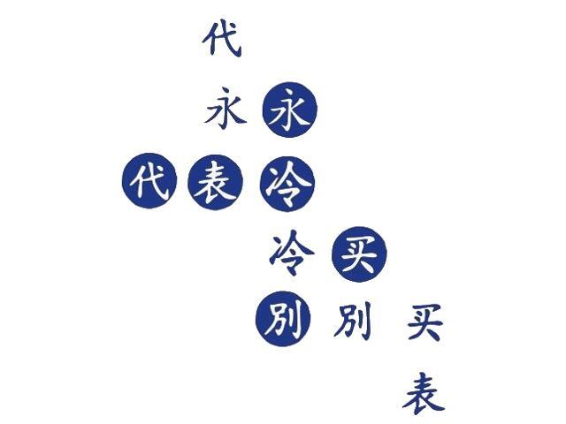 Naklejka dekoracyjna welurowa chińskie znaki 671002-13 Klimaty Domu