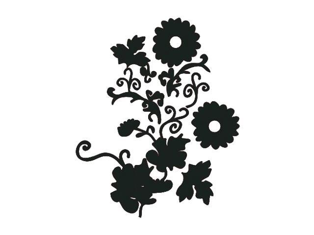 Naklejka dekoracyjna welurowa kwiaty 671003-7 Klimaty Domu