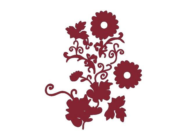 Naklejka dekoracyjna welurowa kwiaty 671003-11 Klimaty Domu