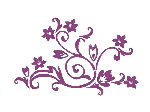 Naklejka dekoracyjna welurowa kwiaty 675022-16 Klimaty Domu