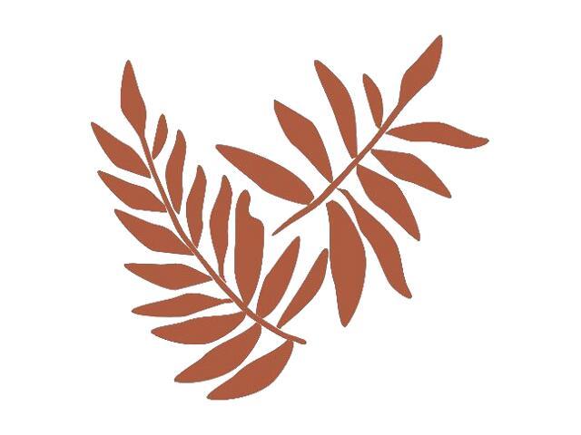 Naklejka dekoracyjna welurowa liście 671006-2 Klimaty Domu