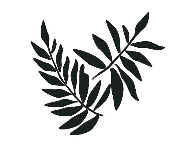 Naklejka dekoracyjna welurowa liście 671006-7 Klimaty Domu