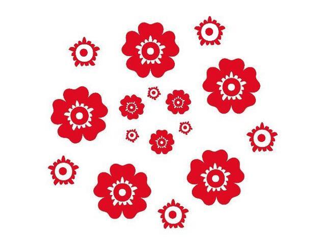 Naklejka dekoracyjna welurowa kwiaty 671007-6 Klimaty Domu