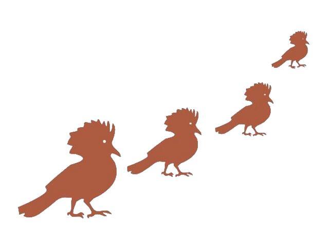 Naklejka dekoracyjna welurowa ptaki 671008-2 Klimaty Domu