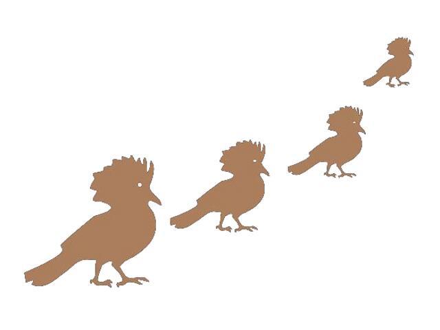 Naklejka dekoracyjna welurowa ptaki 671008-8 Klimaty Domu