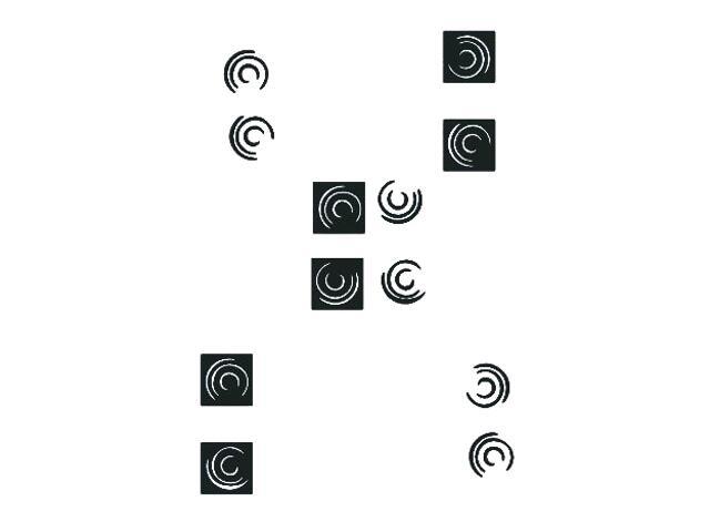Naklejka dekoracyjna welurowa geometryczna 671009-7 Klimaty Domu