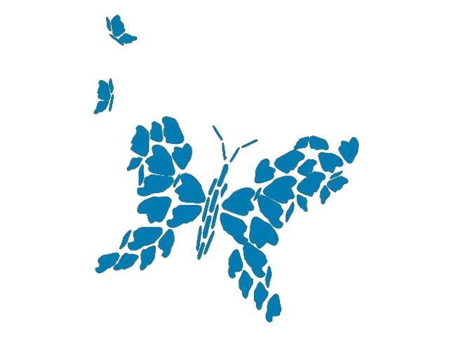 Naklejka dekoracyjna welurowa motyl 671010-4 Klimaty Domu
