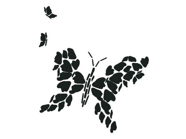 Naklejka dekoracyjna welurowa motyl 671010-7 Klimaty Domu