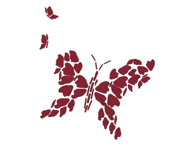Naklejka dekoracyjna welurowa motyl 671010-11 Klimaty Domu