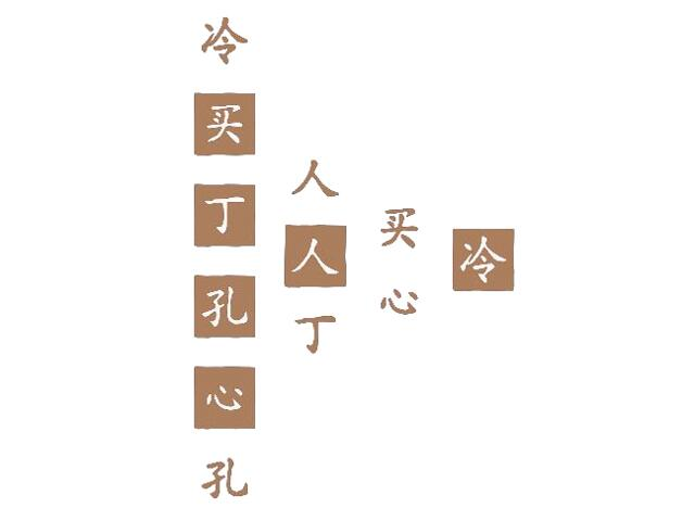 Naklejka dekoracyjna welurowa chińskie znaki 671011-8 Klimaty Domu