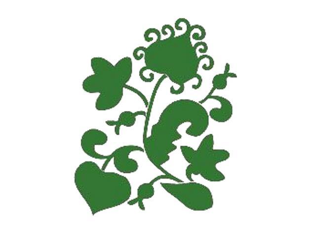 Naklejka dekoracyjna welurowa roślina 671012-9 Klimaty Domu