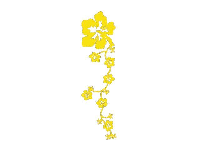 Naklejka dekoracyjna welurowa kwiaty 671013-3 Klimaty Domu