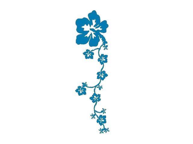 Naklejka dekoracyjna welurowa kwiaty 671013-4 Klimaty Domu
