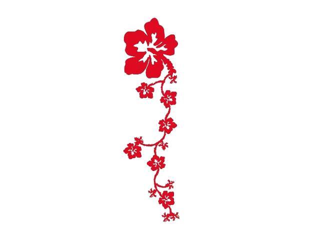 Naklejka dekoracyjna welurowa kwiaty 671013-6 Klimaty Domu