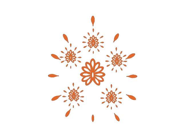 Naklejka dekoracyjna welurowa ornament 671014-1 Klimaty Domu