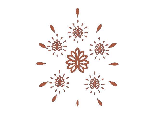 Naklejka dekoracyjna welurowa ornament 671014-2 Klimaty Domu