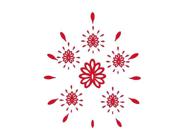 Naklejka dekoracyjna welurowa ornament 671014-6 Klimaty Domu