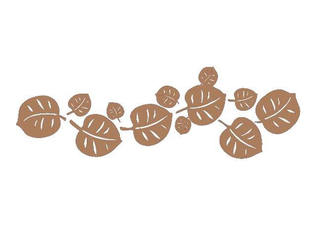 Naklejka dekoracyjna welurowa liście 671015-8 Klimaty Domu