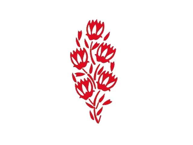 Naklejka dekoracyjna welurowa roślina 671016-6 Klimaty Domu