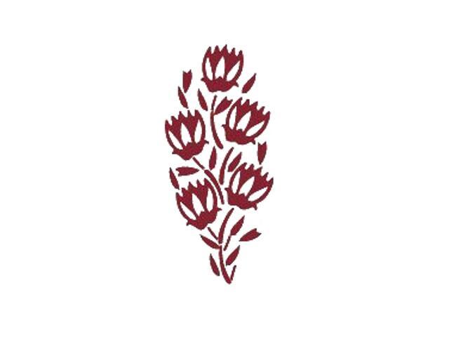 Naklejka dekoracyjna welurowa roślina 671016-11 Klimaty Domu
