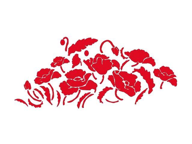 Naklejka dekoracyjna welurowa kwiaty 671017-6 Klimaty Domu