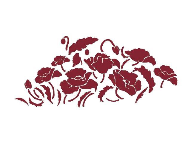 Naklejka dekoracyjna welurowa kwiaty 671017-11 Klimaty Domu