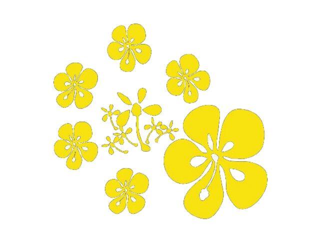 Naklejka dekoracyjna welurowa kwiaty 671018-3 Klimaty Domu