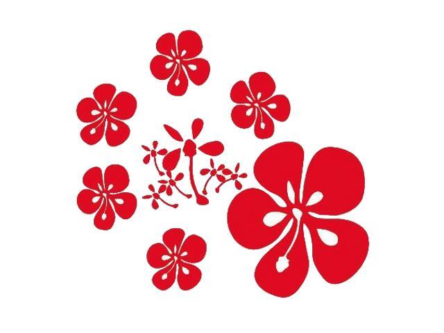 Naklejka dekoracyjna welurowa kwiaty 671018-6 Klimaty Domu