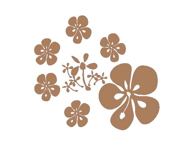 Naklejka dekoracyjna welurowa kwiaty 671018-8 Klimaty Domu
