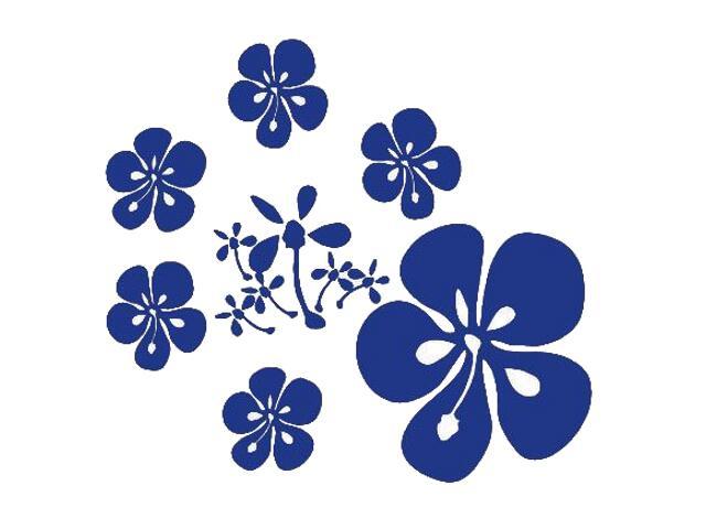 Naklejka dekoracyjna welurowa kwiaty 671018-13 Klimaty Domu