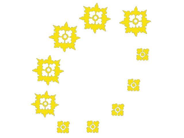 Naklejka dekoracyjna welurowa ornament 671019-3 Klimaty Domu