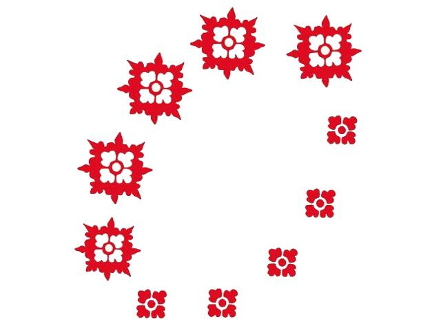 Naklejka dekoracyjna welurowa ornament 671019-6 Klimaty Domu