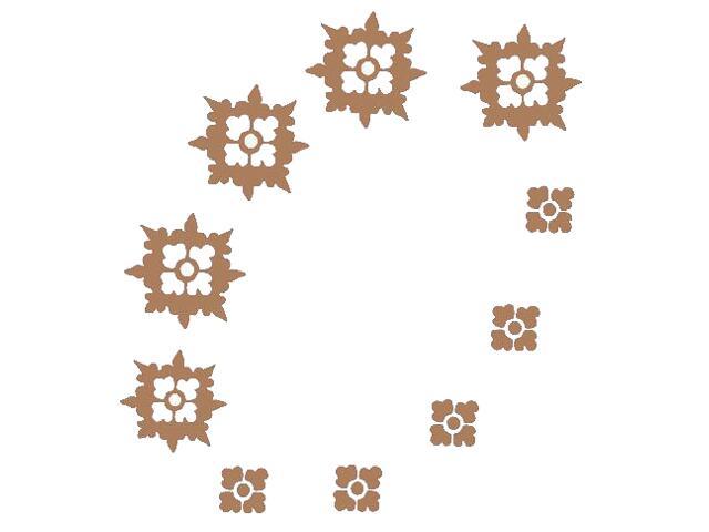 Naklejka dekoracyjna welurowa ornament 671019-8 Klimaty Domu