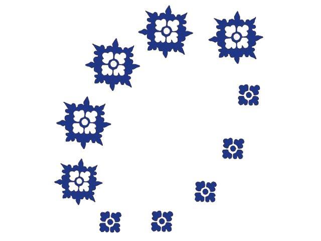 Naklejka dekoracyjna welurowa ornament 671019-13 Klimaty Domu