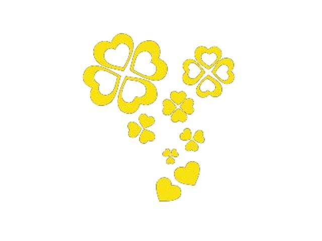 Naklejka dekoracyjna welurowa serca 671021-3 Klimaty Domu