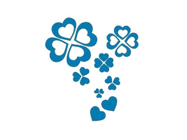 Naklejka dekoracyjna welurowa serca 671021-4 Klimaty Domu