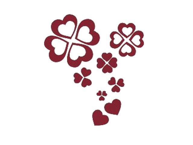 Naklejka dekoracyjna welurowa serca 671021-11 Klimaty Domu