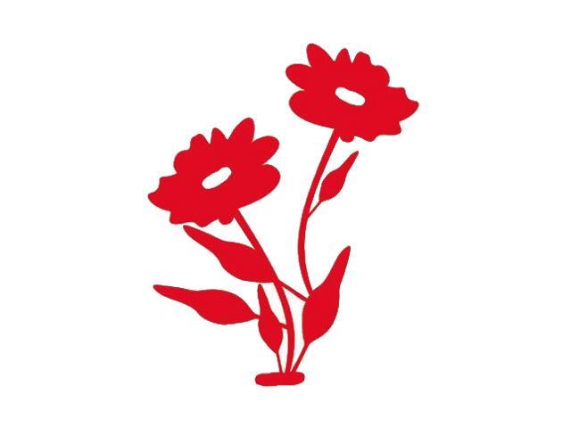 Naklejka dekoracyjna welurowa kwiaty 671022-6 Klimaty Domu