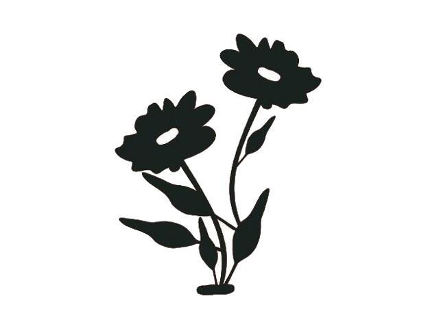 Naklejka dekoracyjna welurowa kwiaty 671022-7 Klimaty Domu