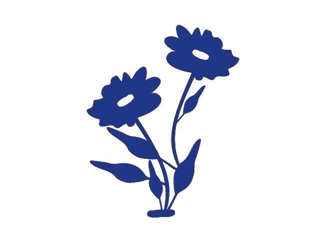 Naklejka dekoracyjna welurowa kwiaty 671022-13 Klimaty Domu