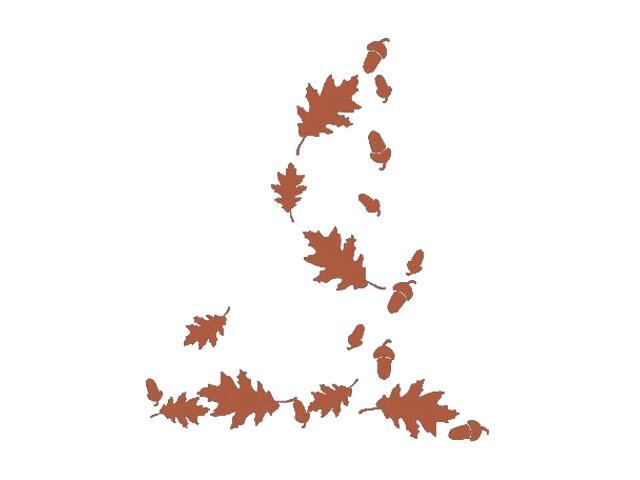 Naklejka dekoracyjna welurowa liście 671023-2 Klimaty Domu