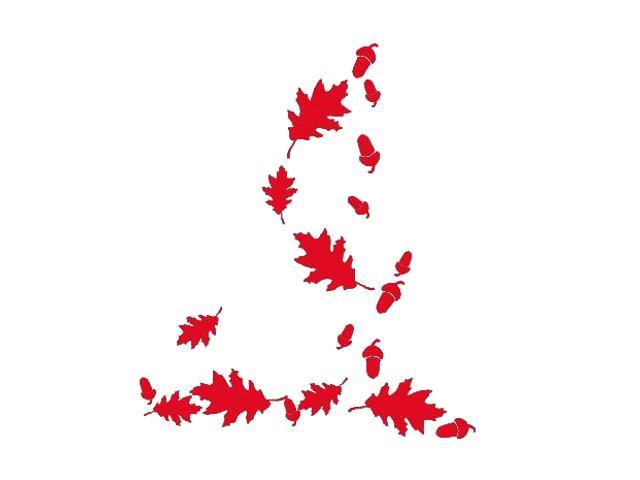Naklejka dekoracyjna welurowa liście 671023-6 Klimaty Domu